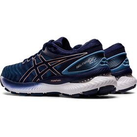 asics Gel-Nimbus 22 Shoes Women grey floss/peacoat
